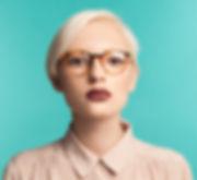 A Woman Wearing Glasses