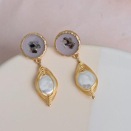 Terrazzo Drop Earrings