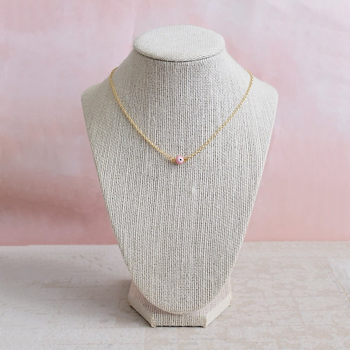 Pink Evil Eye Necklace