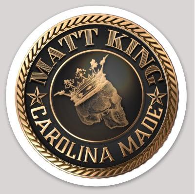 """4"""" Carolina Made Matt King Sticker"""