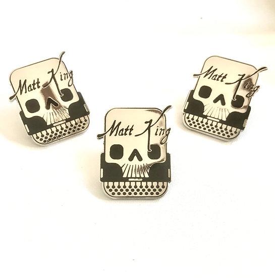 Skully Typewriter Pin