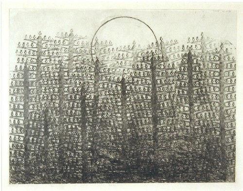 Ernst-Foret-et-soleil-1931-frottage-sur-