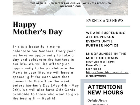 OWR May Newsletter