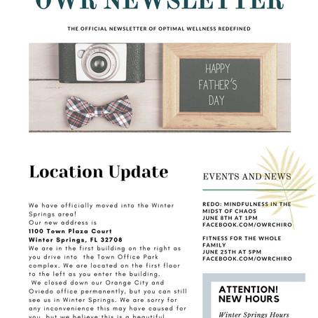 June OWR Newsletter