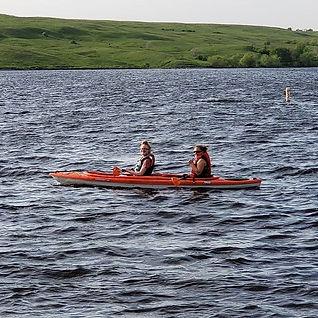Kayakers on the lake today. #lakeashtabu