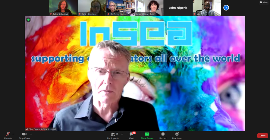 Drop-in Question and Answer session with InSEA President Glen Couttsand InSEA Secretary Patsey Bodkin