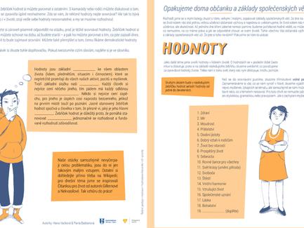 Pracovní listy na téma Evropská unie, Ústava České republiky nebo hodnoty v lidském životě