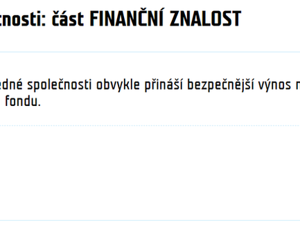 Tip odjinud: Test finanční gramotnosti na téma finanční znalost