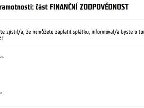 Tip odjinud: Test finanční gramotnosti na téma finanční zodpovědnost