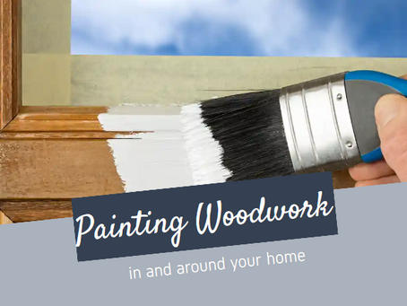 Painting woodwork in and around your home