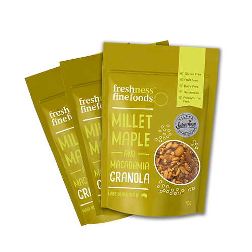 Millet Maple and macadamia - Snack Pack 40g X6