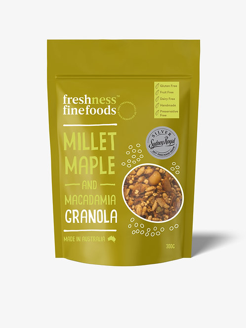 Millet Maple and Macadamia Granola 300g