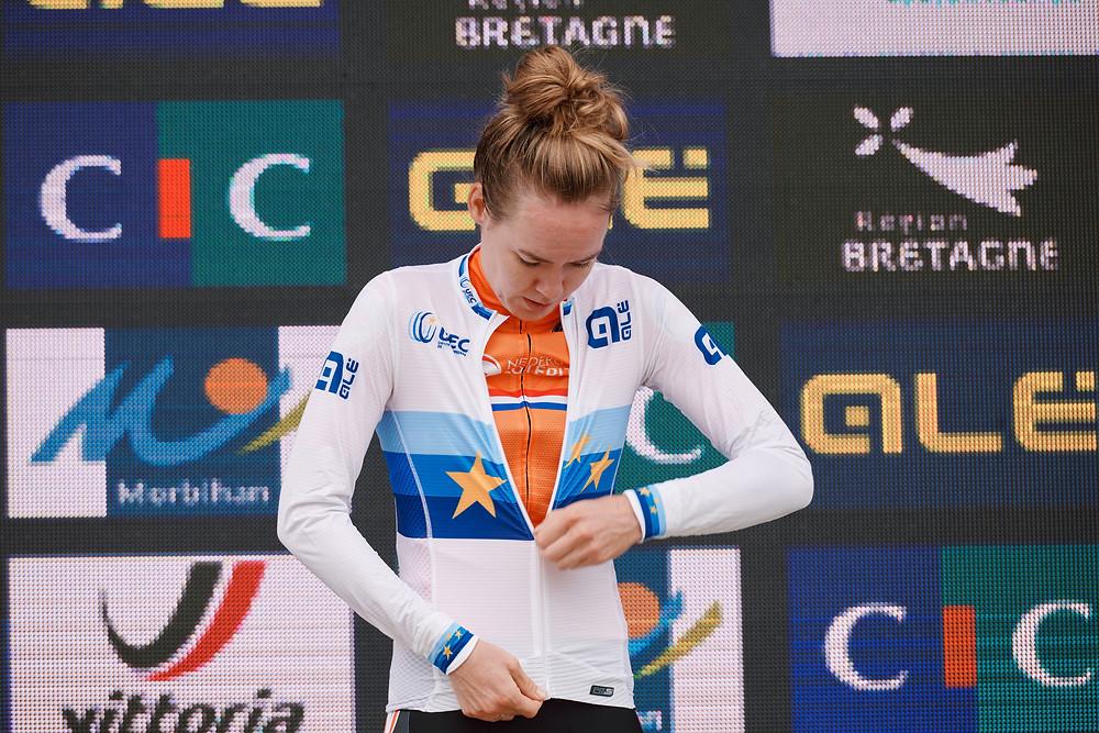 Anna van der Breggen European Time Trail Champion