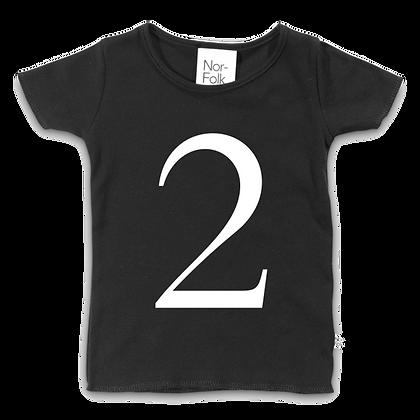 חולצת יומהולדת 2 שחורה