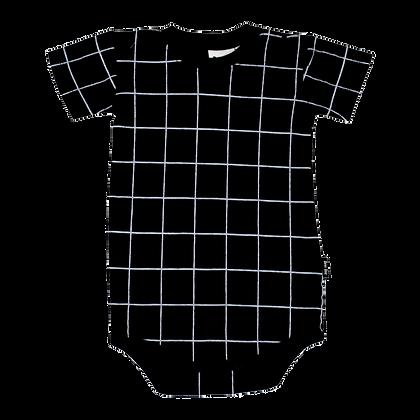 בגד גוף גריד שחור