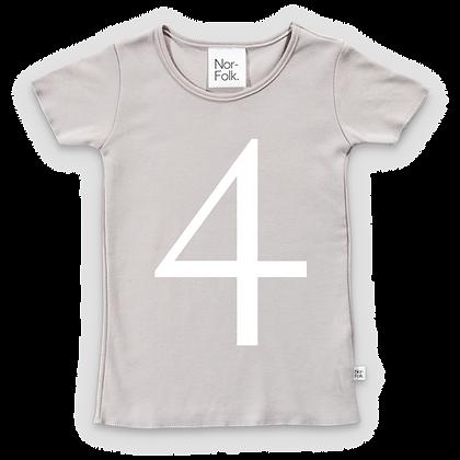 חולצת יומהולדת 4 אפורה