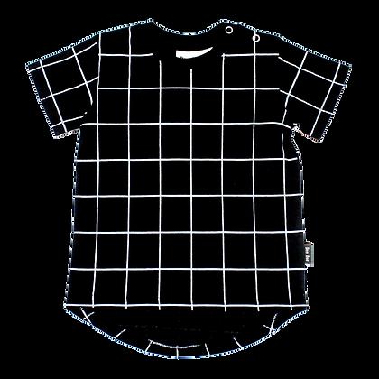 חולצת גריד שחור שרוול קצר