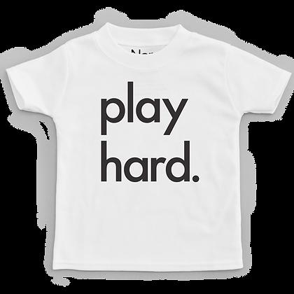 חולצה לבנה Play Hard
