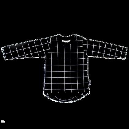 חולצת גריד שחור שרוול ארוך