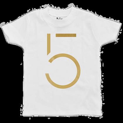 חולצת יומהולדת 5 זהב