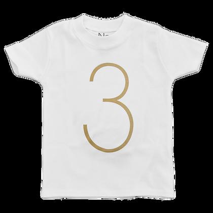 חולצת יומהולדת 3 זהב