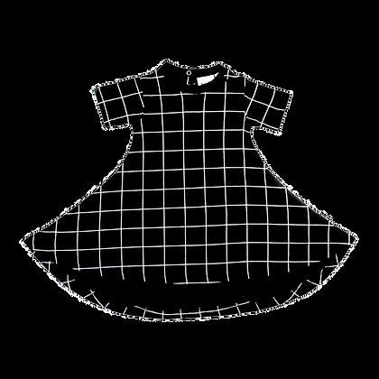 שמלת גריד שחורה
