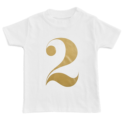 חולצת יומהולדת 2 זהב