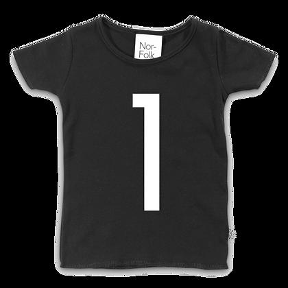 חולצת יומהולדת 1 שחורה