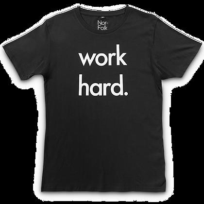 חולצה שחורה Work Hard מבוגרים