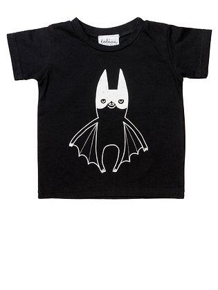 חולצת עטלף שחורה