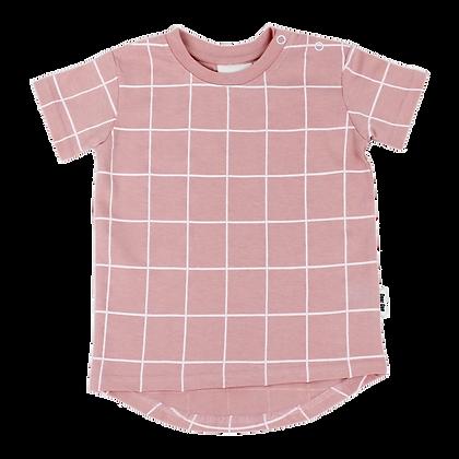 חולצת גריד ורוד
