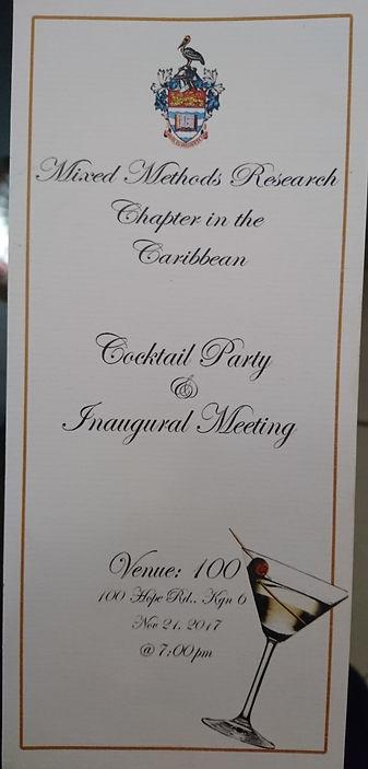 Inaugural  Cocktail Invitation frontNov