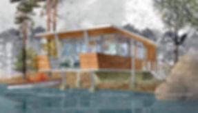 Архитектурный 3Д скетчинг, архитектурная графика, эскиз в акварельном стиле, архитектурная отмывка, визуализация без рендера