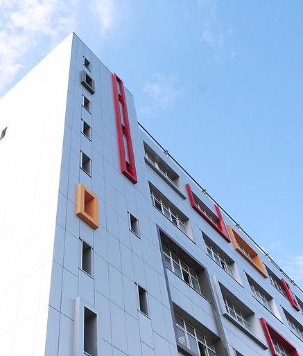 Color Frames, ALPN Ltd facade design, Metal composite panels with polymer coating