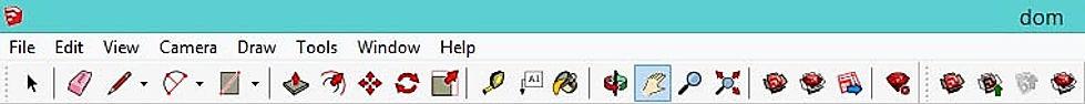 Панель инструментов в программе Скетчап Про, иконки SketchUp