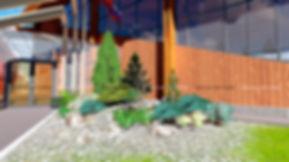 Фрагмент проекта ландшафтного дизайна территории КСК