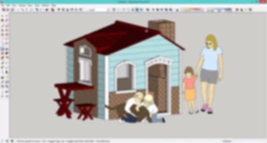 Проектирование детского домика, с использованием библиотеки компонентов 3D Warehouse