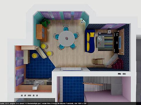 Дизайн интерьер в загородном коттедже
