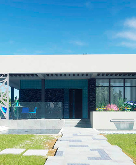 JEWELRY BOX building, concrete construction, perforation metal and landscape design in Greece
