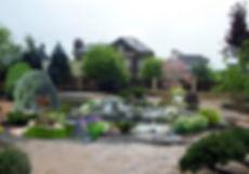 Коллаж в Adobe Photoshop. Фрагмент проекта ландшафтного дизайна.