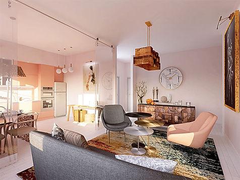 Дизайн гостиной. Концепция Балет