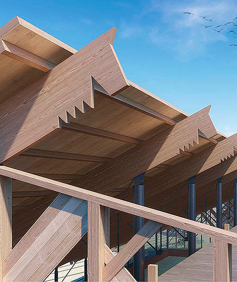 OAT WREATH, ALPN Ltd wood construction and decorative elements of roof