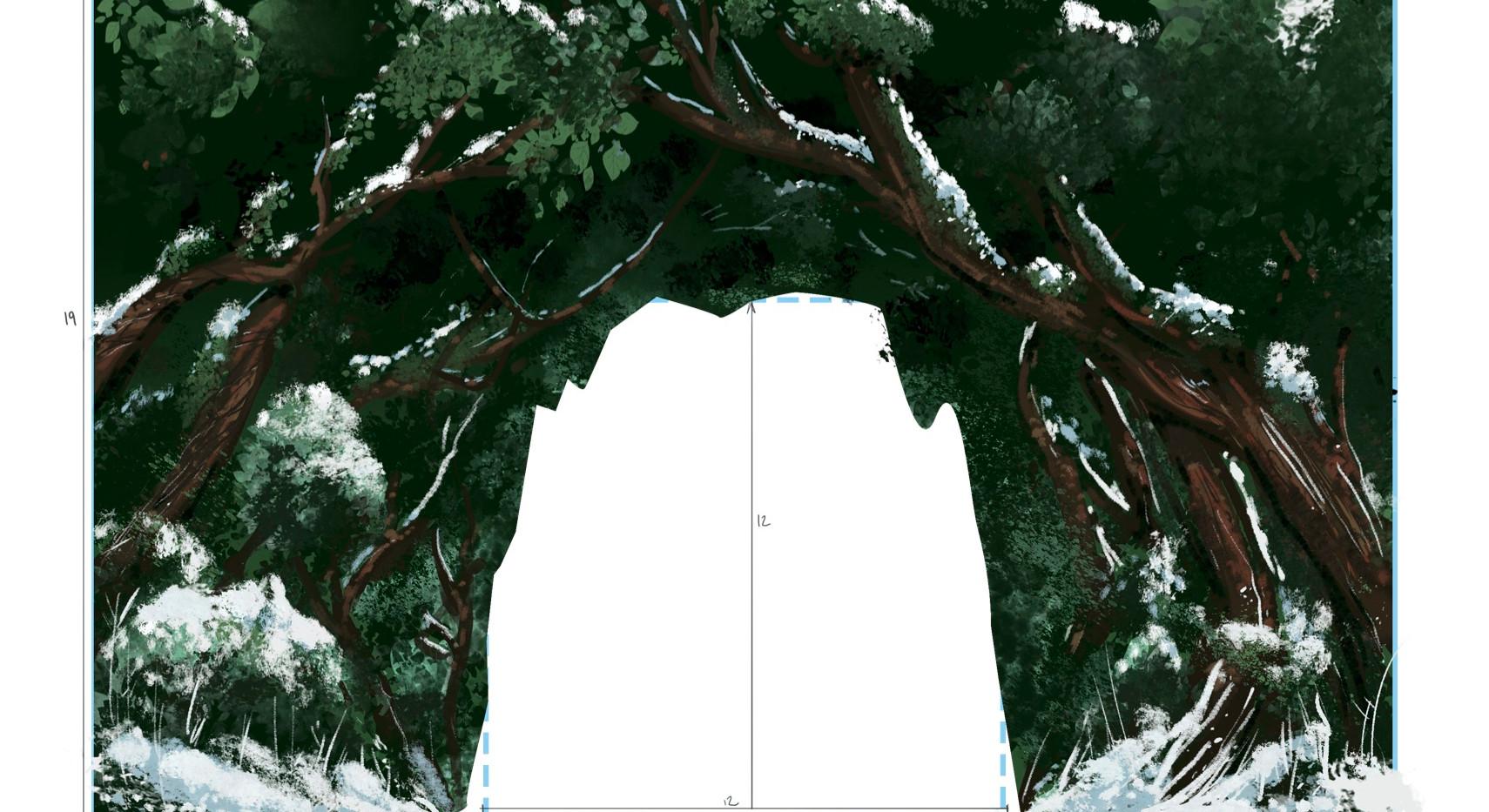 Woods & Castle entrance -w  measurements