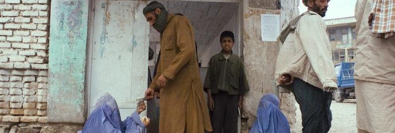 Widows beg at the Mosque