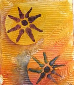 Orange Widow's Mite - Watercolor
