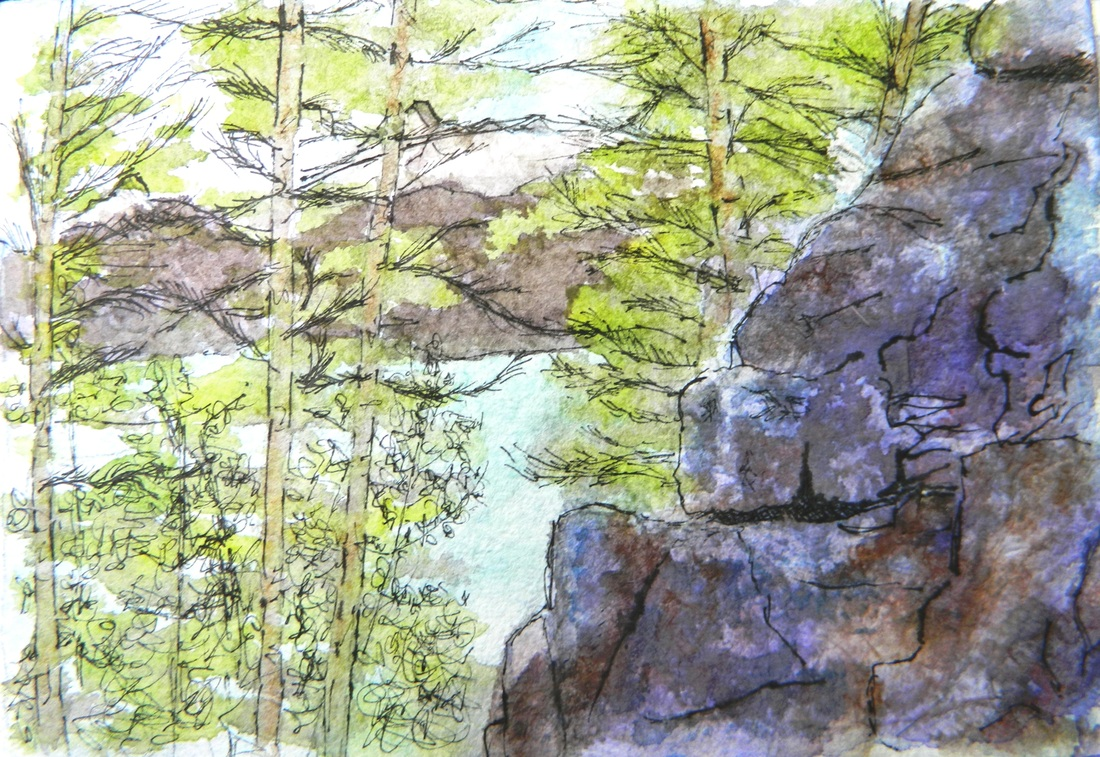 Devil's Lake - Pen and Ink