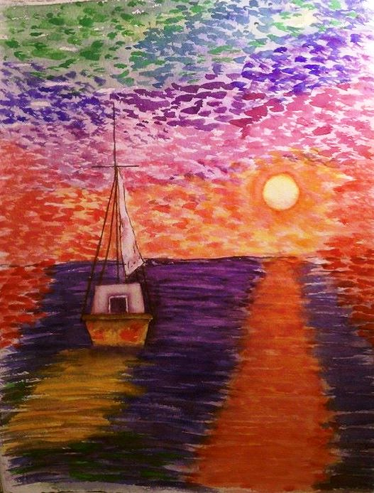 Surreal Sail - Watercolor
