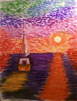 Surreal Sail - Watercolor
