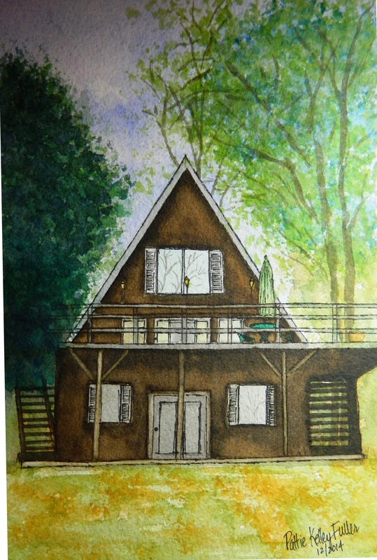 Jake's Place (For Display only - No sale) - Pen and Ink Watercolor