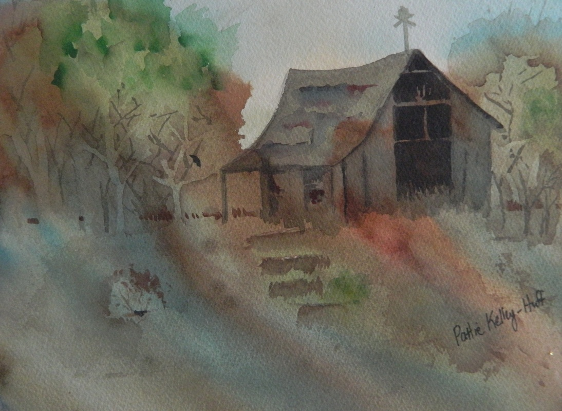 Pole Barn - Watercolor